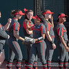 Brittany Gray (in sling) during introductions