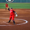 Georgia pitcher Brittany Gray (18) during the Bulldogs' game against College of Charleston at Jack Turner Softball Stadium in Athens, Ga. on Friday, Feb. 23, 2018. (Photo by Steffenie Burns)