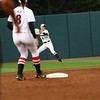 Georgia outfielder Kendall Burton (3) during the Bulldogs' game against Mizzou at Jack Turner Stadium in Athens, Ga. on Friday, April, 6 2018. (Photo by Steffenie Burns)