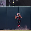Justice Milz watch an LSU homer sail over the left field fence