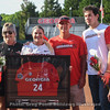 Kylie Bass and her family during pregame Senior Day Ceremonies