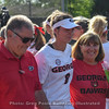 sbo8 and her parents during pregame Senior Day Ceremonies