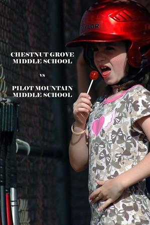 Chestnut Grove vs Pilot Mountain Middle Schools, 04/17/08
