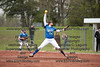 Riverdale's Taylor Farmer (14) winds and delivers a pitch against VB.