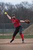 HL's Macey Malagon (8) winds and fires a pitch against Van Buren. The Lady Chieftians outscored the Lady Knights 14-10.