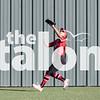 The Lady Eagles play against Krum on April 20, 2018 at Argyle Highschool in Arglye, Texas, on April 20, 2018. (Quinn Calendine / The Talon News)