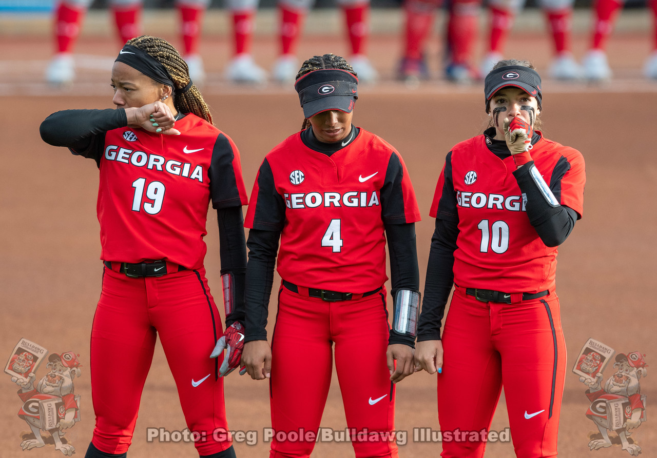 UGA softball student-athletes CJ Landrum, Ciara Bryan, Jordan Doggett | Georgia vs. Howard | Red & Black Showcase on February 07, 2020