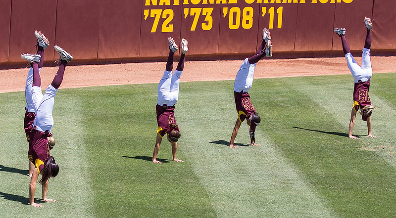 A little pre-game gymnastics