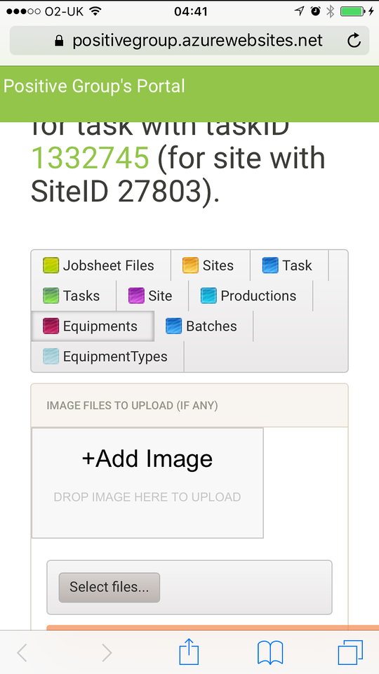 PositiveGroupPortal: enabling staff to upload images and files from phone (2/2)