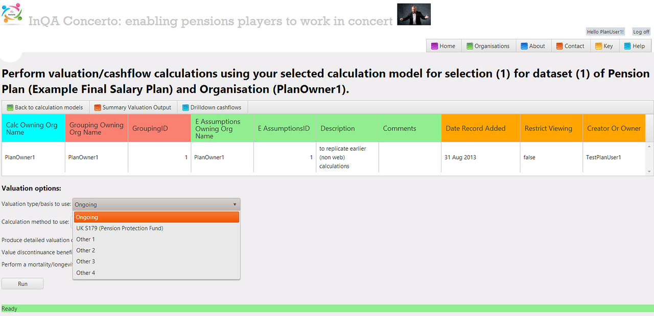 Pensions Concerto: enabling actuaries and consultants to perform pension valuations online