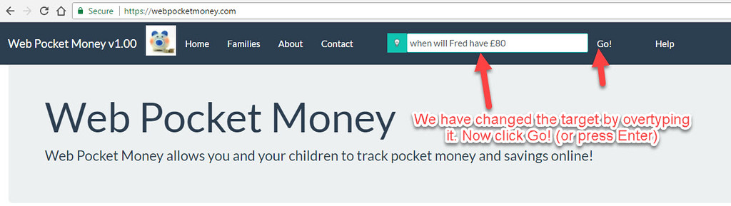 InQA's WebPocketMoney allows the user to ask it intelligent questions