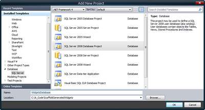 Step 01 - Create the SQL Server 2008 Database Project