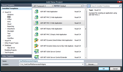 Step 02 - Create the ASP.NET MVC 3 Project