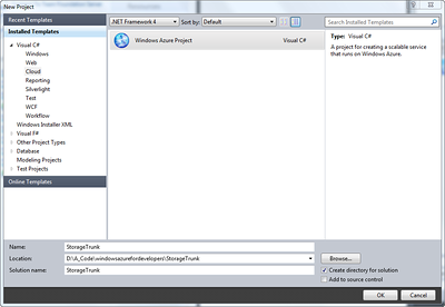 Windows Azure StorageTrunk.