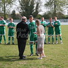 MIchael Simpsons recieves an award for 400 appearances for Soham.