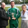 Andy Furnell collects Martin Bromwichs' award for Managers Player of the Year