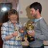 Photo provided by Joseph Burr.<br /> <br /> Martin Bromwich collecting his awards in person from Club Secretary Karen Prewett.