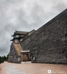 Beijing 9 augusti - Ming Dynasty City Wall Relics Park