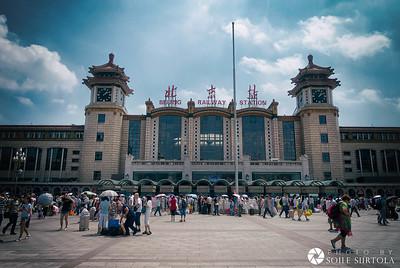 Beijing 9 augusti - Beijing railway station