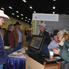 The Web Soil Survey, an electronic tool, is being demonstrated by NRCS staff to help landowners learn how to navigate through geographic areas of interest and access data such as interactive soil maps, soil properties and qualities, along with assessing suitability and limitation land uses.<br /> NRCS photo by Beverly Moseley.
