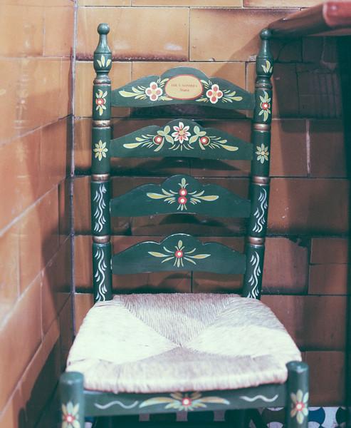 Una silla de enea