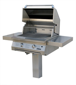 Solaire 30 inch Infrared Propane Grill on an In-Ground Post