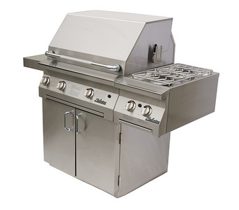 "Solaire 30"" Grill with Side-mounted Double Side Burner"