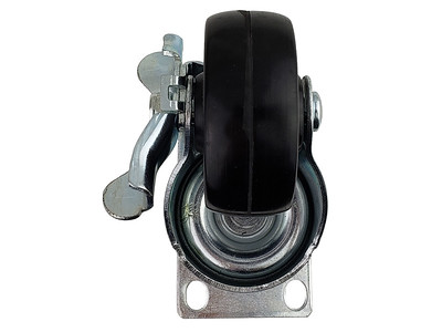 ITEM SOL-6074R Caster, swivel with brake for all cart and pedestal models