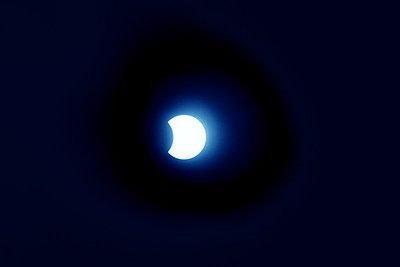 Eclipse Rendition in Blue