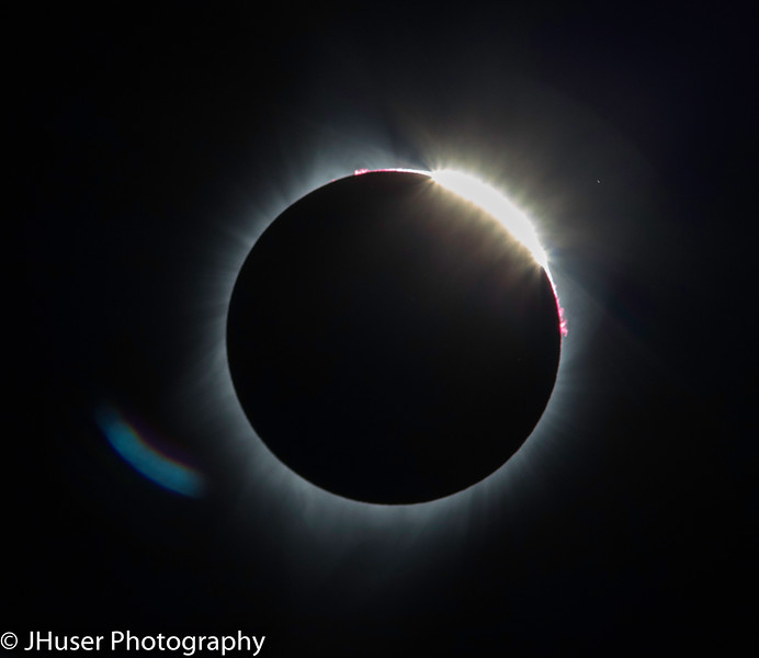 The Diamond Ring during the Eclipse