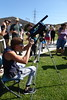 Viewing the Eclipse safely thru Binoculars with Solar Filter