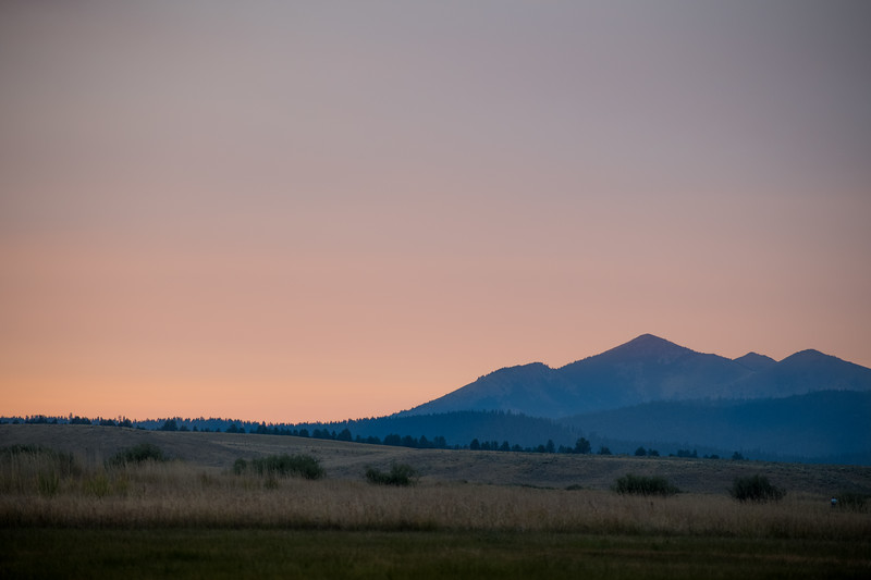 Dusk over Strawberry Mountain
