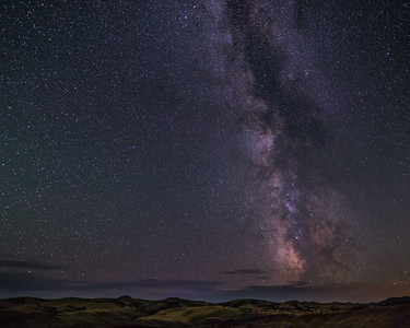 Starry Sky over the Painted Hills, OR