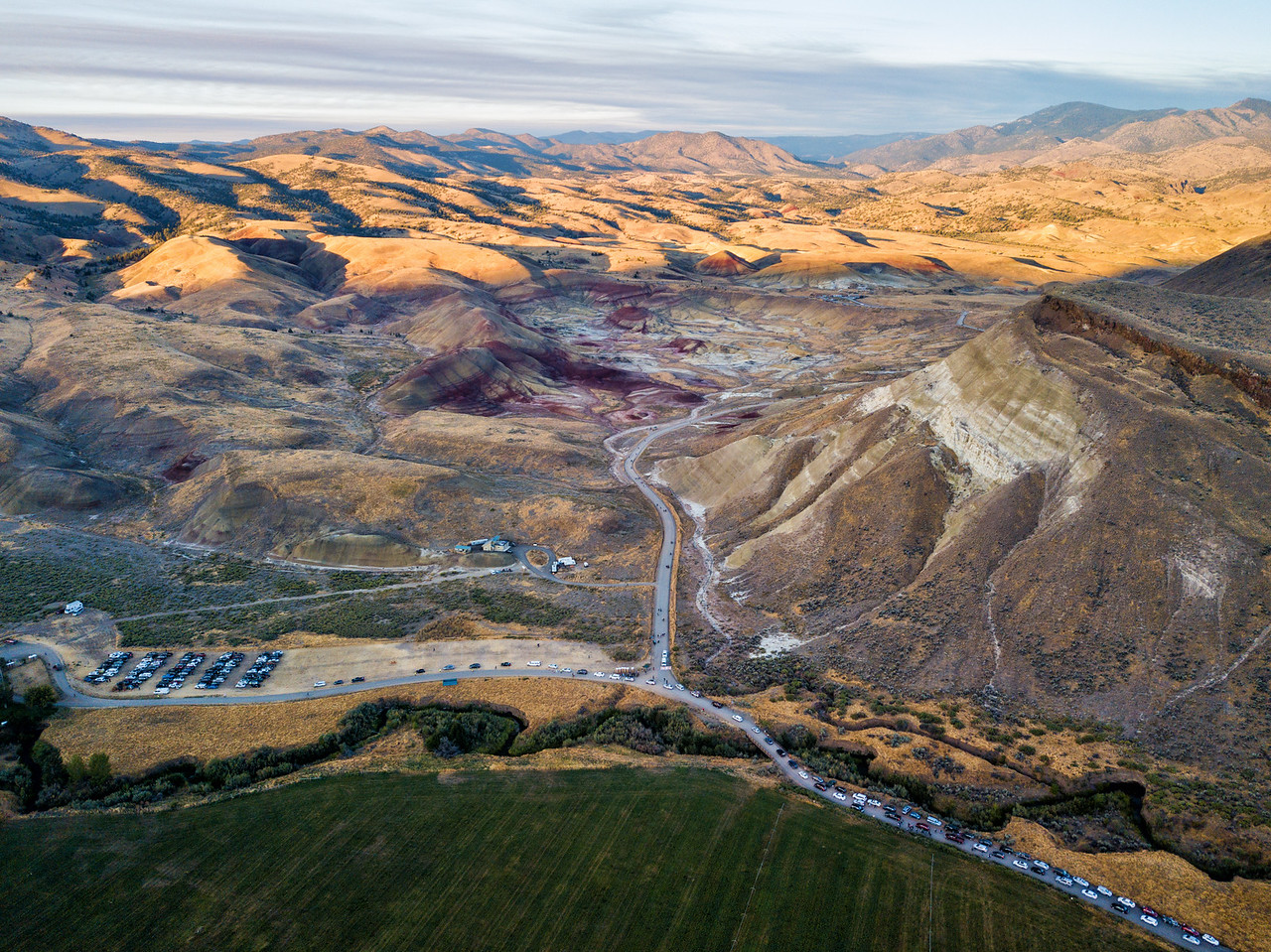 Painted Hills from Above