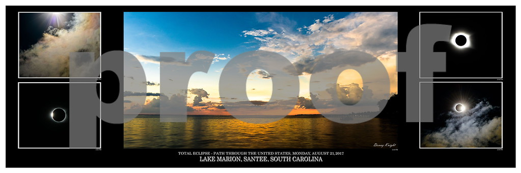 Solar Eclipse over Lake Marion, Santee, SC -2017
