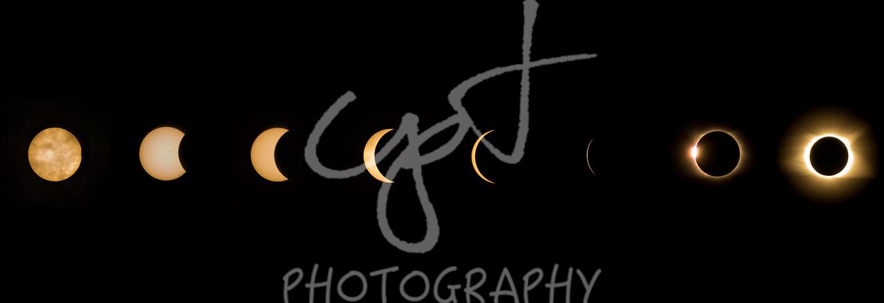 "12""x36"" Solar Eclipse composite metal print"