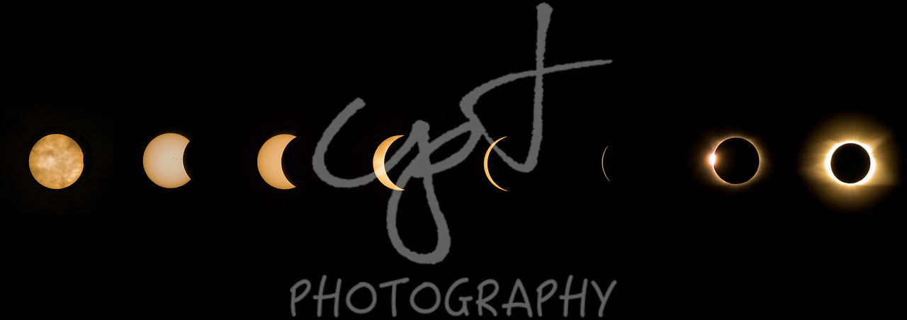 "6""x18"" Solar Eclipse composite metal print"