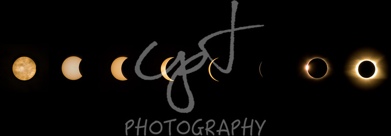 "8""x24"" Solar Eclipse composite metal print"