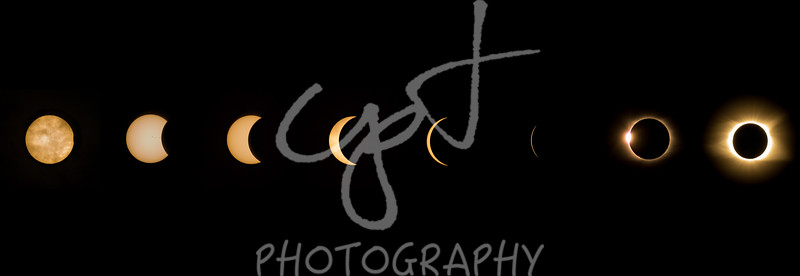 "10""x30"" Solar Eclipse composite metal print"