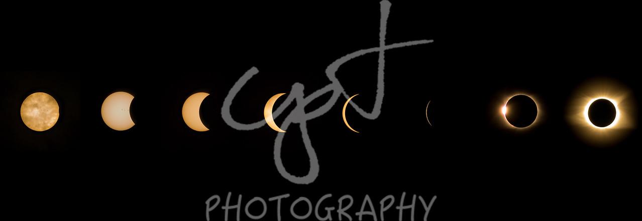 "10""x30"" Solar Eclipse composite metal print"