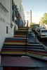 Street scene: colorful steps