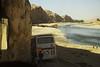 Bus parks beside the Tigris