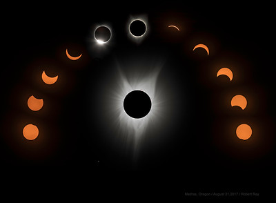 Composite of Aug 21, 2017 Eclipse from Madras, Oregon