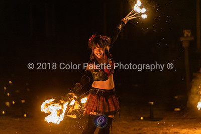 Saturday 11/17/2018 SolarRain Fire Performance group in central Texas at the Texas Renaissance Festival 44th ann. Highland Fling  @solarraintx