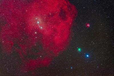 Comet ATLAS Approaching Lambda Orionis Nebula