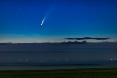 Comet NEOWISE Above the Clouds (July 9, 2020)