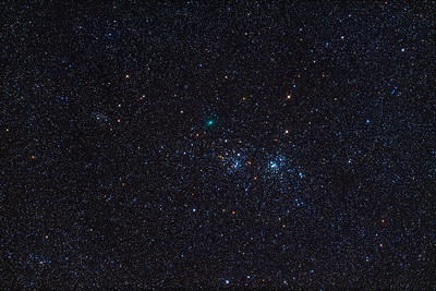 Comet and Clusters (Jan 25, 2020)