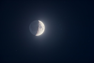 The Waxing Moon and M44