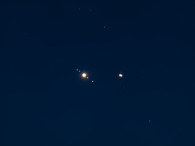 Jupiter & Saturn Conjunction Closeup - December 22, 2020