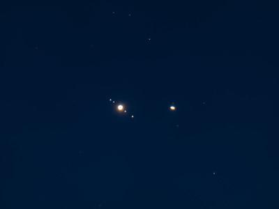 Jupiter & Saturn Conjunction Closeup - December 22, 2020